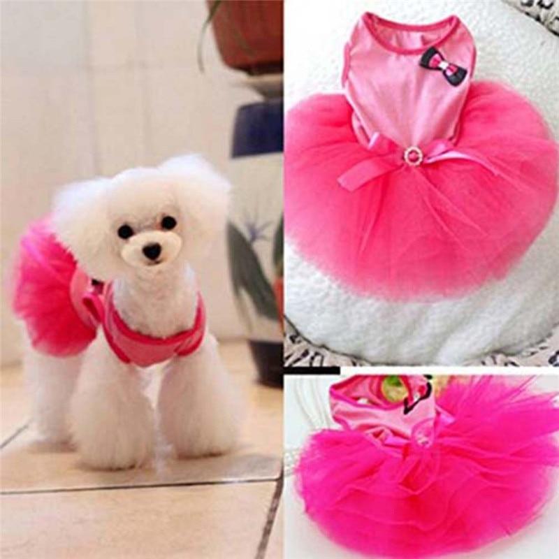Levering Hond Kat Pet Puppy Oxford Stof Kleding Prinses Rok Jurk Mesh Vest Harness Lead Leash Ej882908