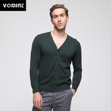 Vomint 2019 New Spring Mens Cardigans Sweater Solid Botton Open Knitted Cotton Fabric All Match Wear