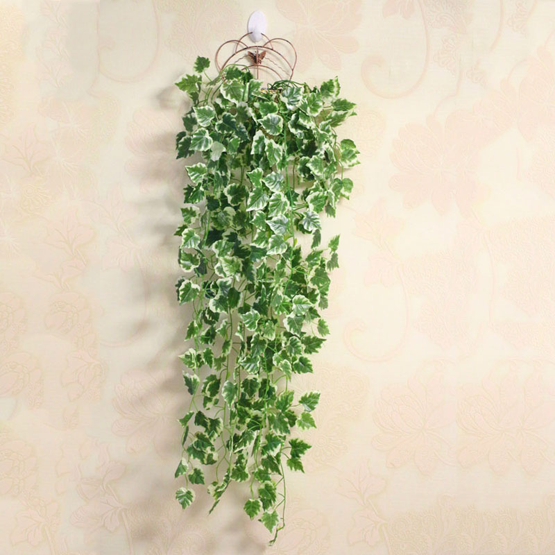 Green Artificial Plant Ivy Vine Potato Plastic Leaves Garland Plant Vine Fake Foliage Party Wedding Decoration Home Decor