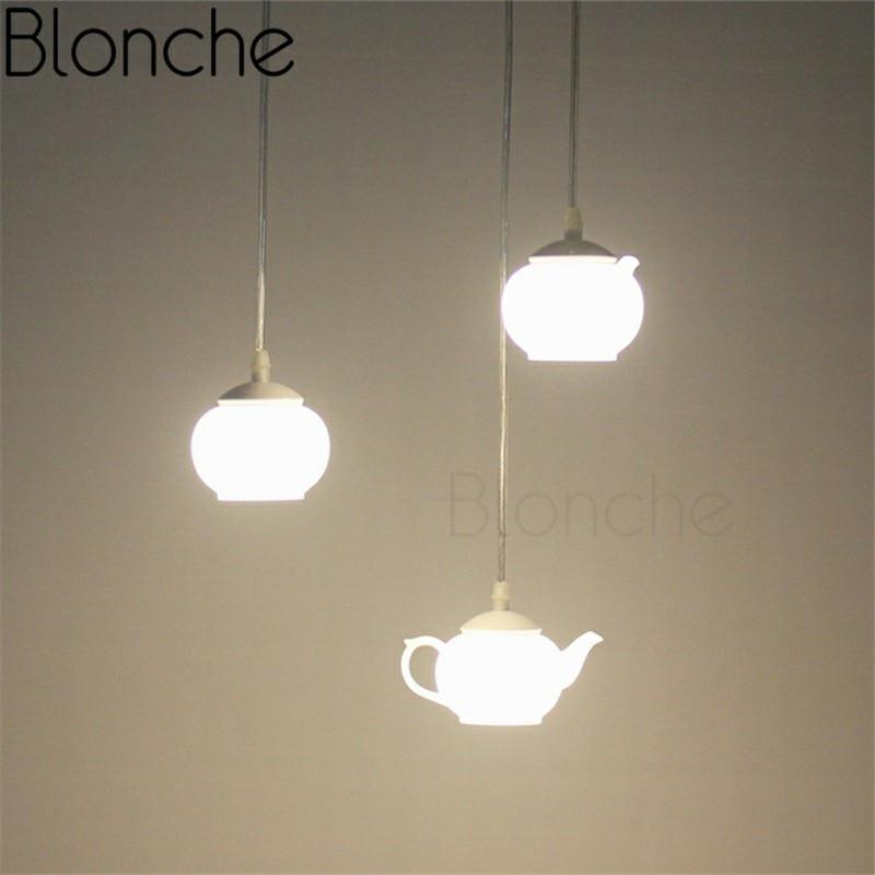 Modern Teapot Pendant Lamp Acrylic Hanging Lights For Dining Room Bar Living Room Kitchen Home Decor Lighting Led Loft Fixtures