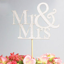 Grateful Personality Available Decoration Cake Topper Mr Mrs Wedding(China)