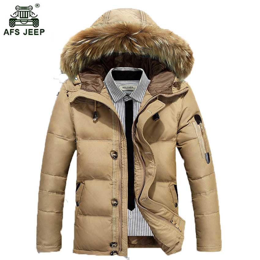 free shipping 2017 AFS JEEP New Korean Men Casual Coat Winter Thickening Warm Cotton-padded jacket Fashion Slim Outerwear 195 2016 autumn and winter fashion explosion models men s warm thick cotton korean slim casual jacket