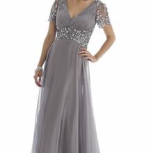 Backlackgirl Grey Plus Size Mother Of The Bride Dresses Short Sleeve Evening Gowns Crystal Vestido De