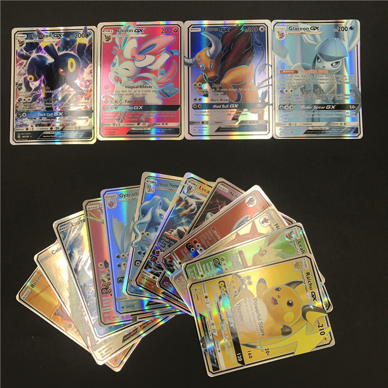GX MEGA Shining Cards Game Battle Carte 25 50 100pcs 200 Pcs Trading Cards Game Children  Toy