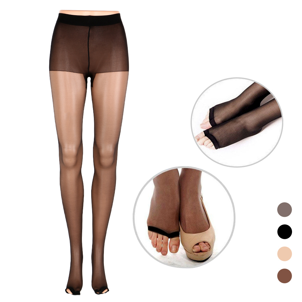 Fashion Tights Full Length Lady Stretchy Anti-off Silk Cored Wire Fish Head Open Toe Pantyhose Stockings For Woman Girl