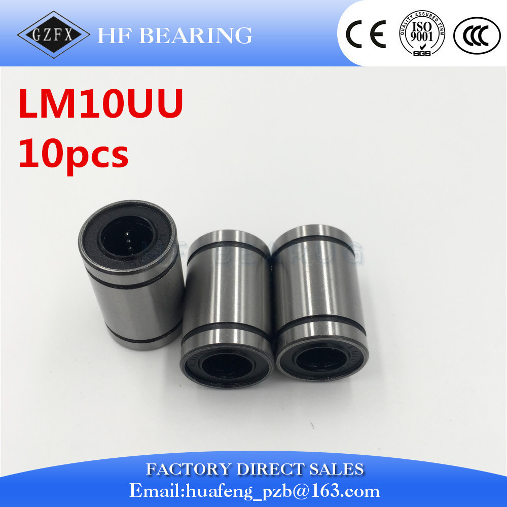 10pcs/lot LM10UU for 10mm shaft 10x19x29mm Linear Ball Bearing Bush Bushing 10mmx19mmx29mm cnc parts 1pc scv40 scv40uu sc40vuu 40mm linear bearing bush bushing sc40vuu with lm40uu bearing inside for cnc