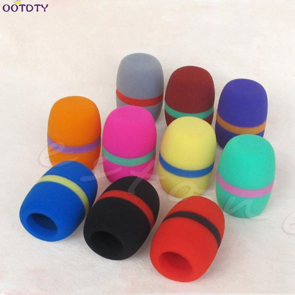 10 шт цветов ручной микрофон для сцены ветровое стекло пена чехол для микрофона караоке