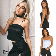 Women Casual Summer Tube Tops Sexy Sleeveless Strap Solid Cami Tops Backless Sleeveless Tank Tops sexy midriff baring tops