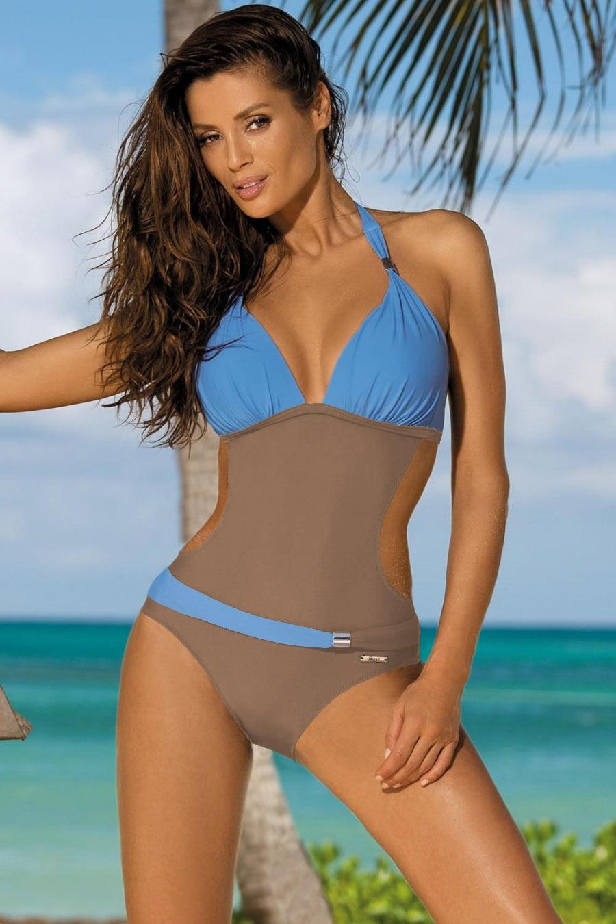 Crotchless micro g string bikini