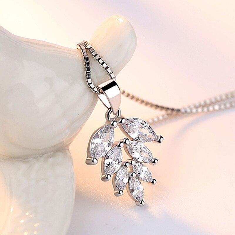 silver zircon pendants necklaces (5)