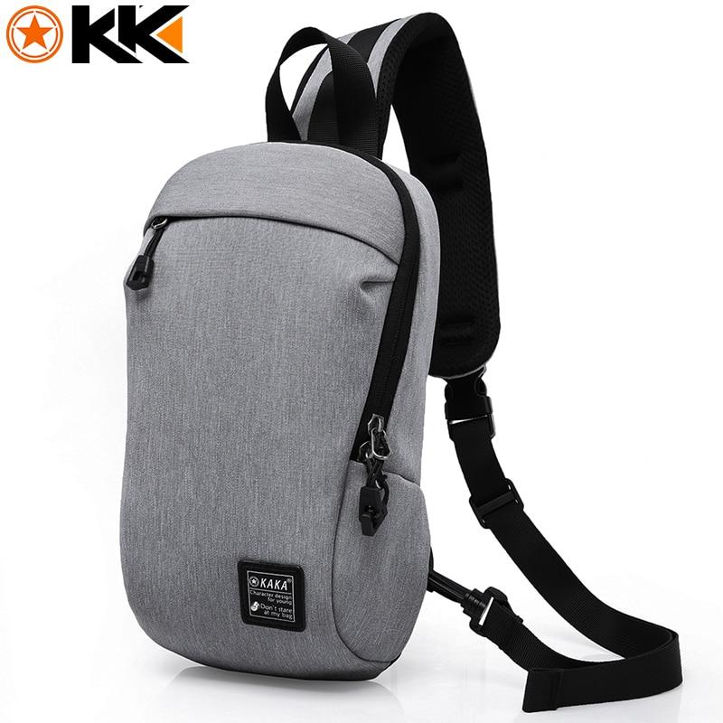 KAKA Fashion Crossbody Bags Men Casual Water Repellent Chest Bag Pack For Short Trip Messenger Bag Multifunction 2017 Hot Sale