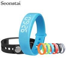 W5 Good Bracelet Wristband Pedometer Thermometer Sleep Monitor Calorie Burning Health Tracker Good Watch Males Girls Band