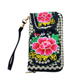 Hot Sale Women Wallets Embroidered Coin Purse Cash Pocket Purse Card Holder Wristlet Phone Bag Women Bag