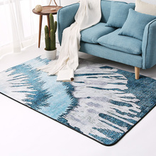 New Fashion Nordic Blue Style Carpet Modern  Geometric Printing Mats for Living Room Tea table MATS Office Bedroom