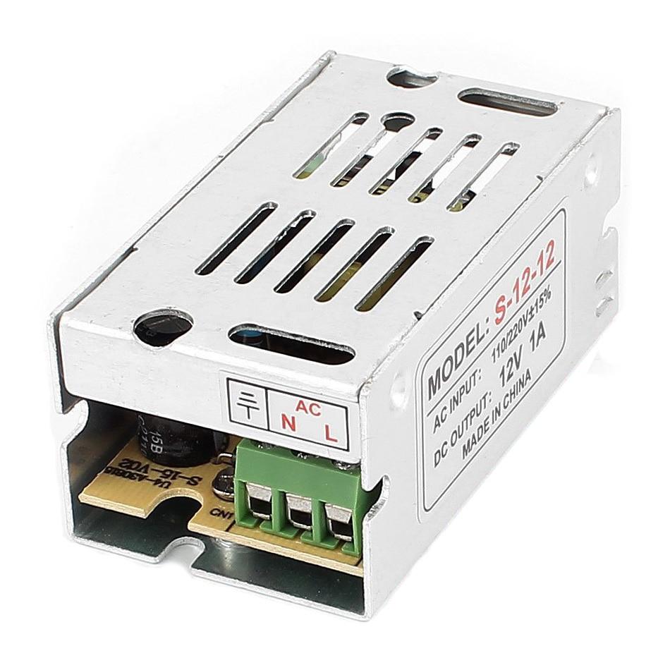 Новый Импульсные блоки питания конвертер AC 110-220 В 12 В 1A 12 Вт для Светодиодные ленты свет