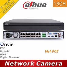 Frete grátis dahua DH NVR4216 16P HDS2 substituir NVR4216 16P 4KS2 16ch poe nvr h265 4 k 8mp ip câmera cctv rede vedio gravador