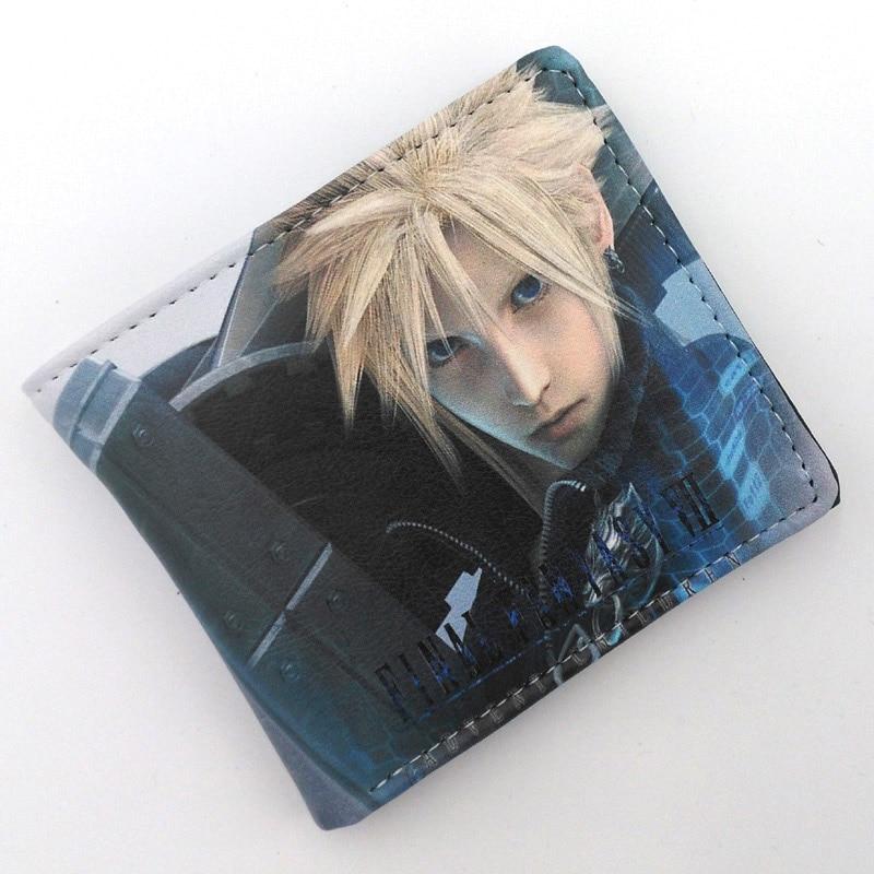 Anime Folding Wallet/Final Fantasy VII Cloud Strife, Sephiroth High Quality Short PU Purse moana maui high quality pu short wallet purse with button