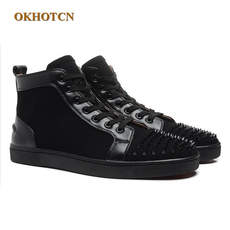5dc8f5e30dc7 Flock Casual Leather Mixed Mens Shoes Fashion New Style Brand Unisex Boots  High Quality Luxury Height