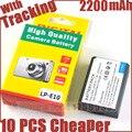 2200 мАч LP-E10 LP E10 LPE10 Аккумулятор Для Камеры Canon EOS 1100D 1200D 1300D Поцелуй X50 Rebel T3 T5 X70 X80 T6