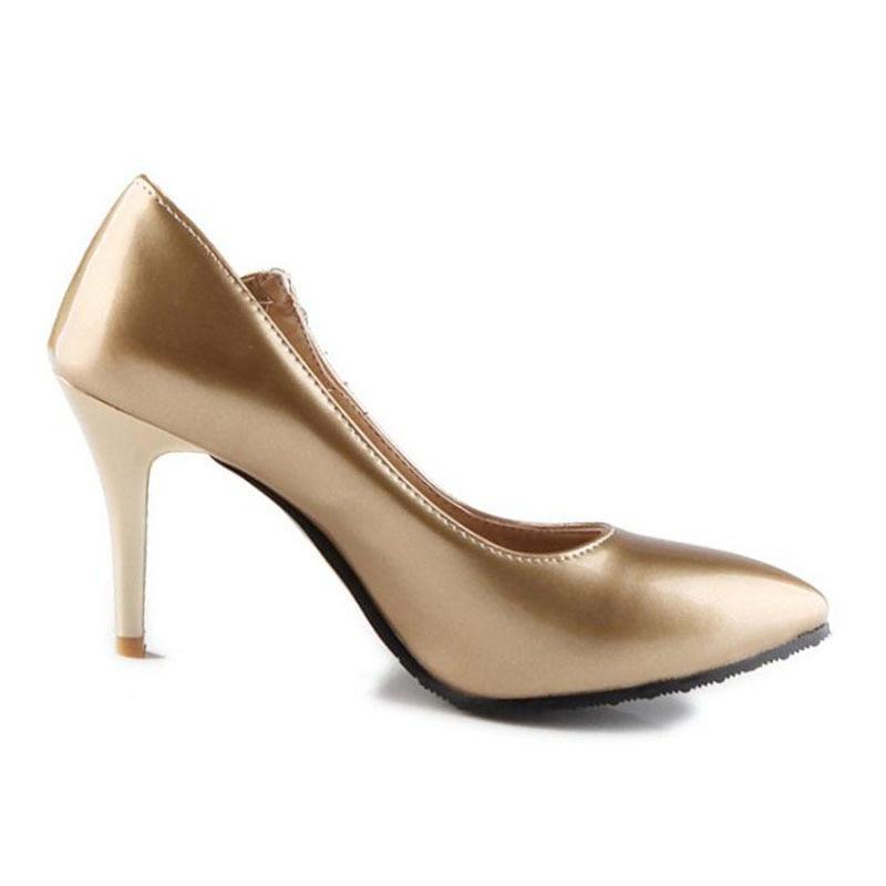 or Lebaluka 47 Sexy À Mode Hauts Cristal Dames Pompes Pointu Noir Nouvelles 5 Couleur vert argent Plus Talons Bout Bureau 30 Femmes blanc Stilettos Chaussures 1rqf1F