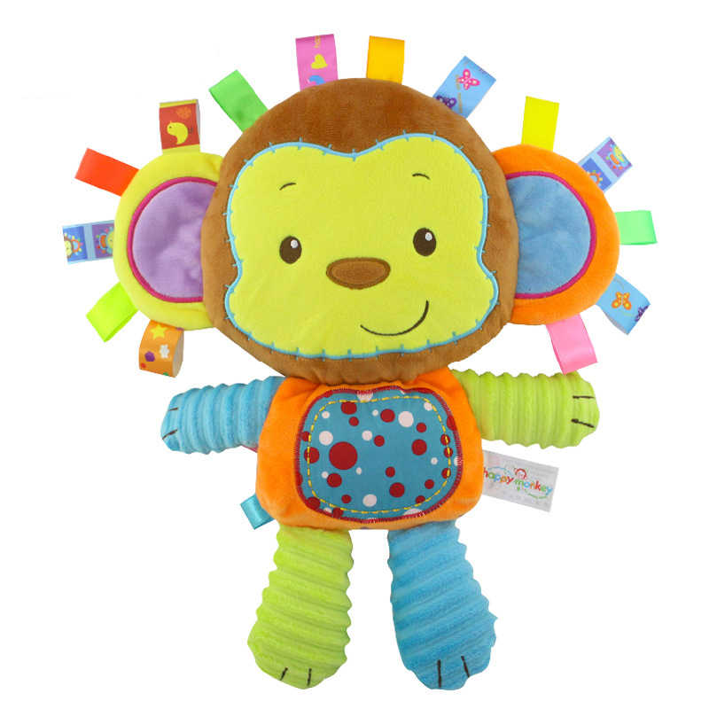 5 стилей детские игрушки погремушки Игрушка антистресс плюшевые игрушки, погремушки для младенцев колокольчики животных новорожденных животных Слон/обезьяна/Лев/Кролик