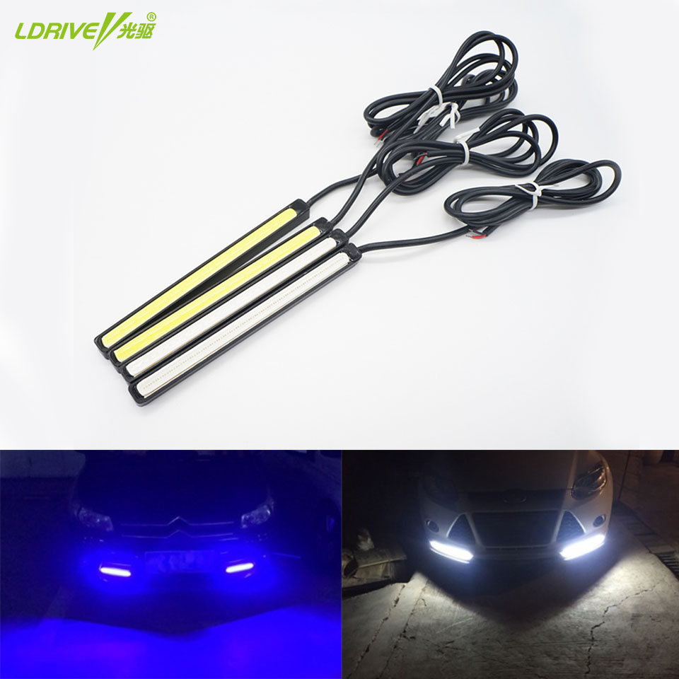 2Pcs/Lot Waterproof LED Daytime Running Light External DRL Car Lights Source Styling Auto Fog Lamp 10.5-24.5CM For BMW Ford Audi high quality h3 led 20w led projector high power white car auto drl daytime running lights headlight fog lamp bulb dc12v