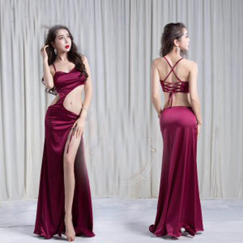 New Arrival sexy Belly dance training Dress long Skirt for Women nice Oriental Dance Skirt White