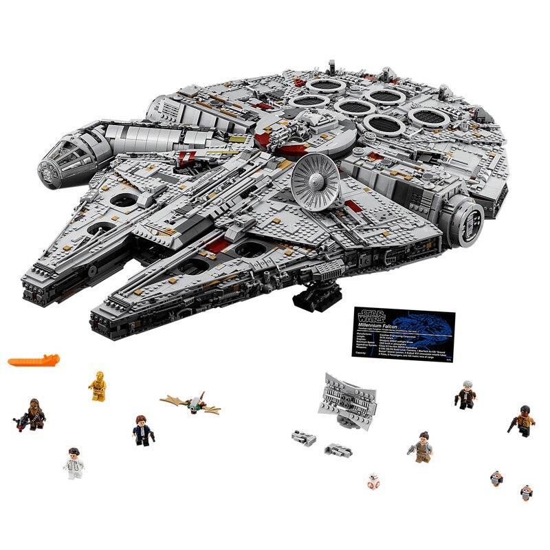8445 pz Star Wars Cacciatorpediniere Millennium Falcon Modello di Mattoni Blocchi Compatibili legoings 75192 05132 Giocattoli Educativi Regali