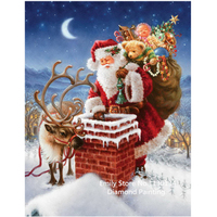 Diy 3D Diamond Painting Santa Claus Gift Cross Stitch Kits Square Drill Full Laid Diamond Embroidery