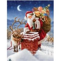 Diy 3D Diamond Painting Santa Claus Gift Cross Stitch Kits Square Drill Full Laid Diamond Embroidery