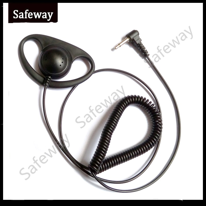 3.5mm D Ring Listen Only Earpiece Receive Only Earphone For Motorola For Kenwood For Baofeng Two Way Radio Microphone