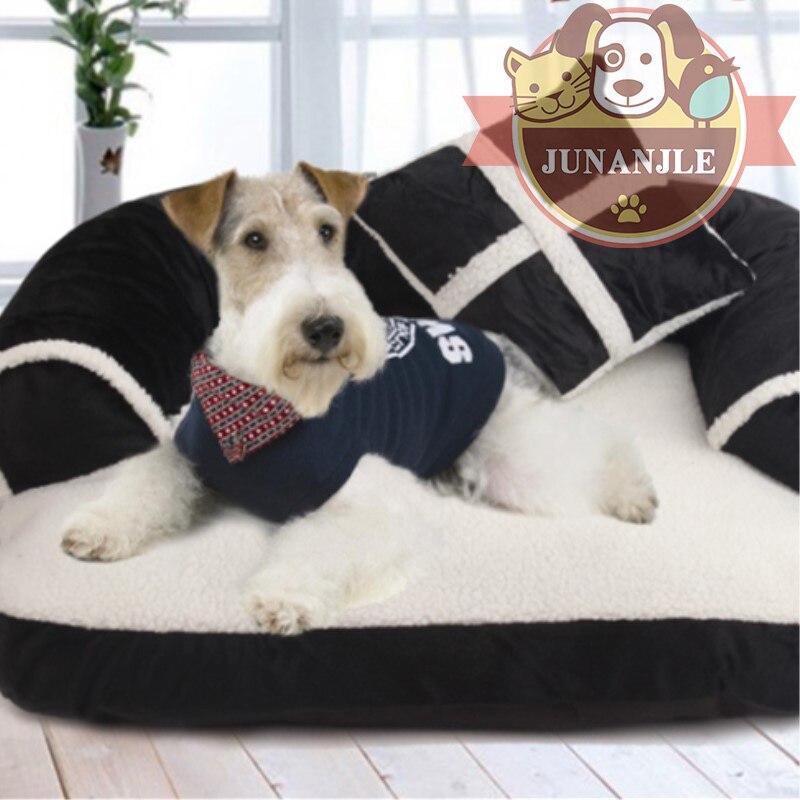 2018 doux Pet chien maison plus chaud chien maison chaud Pet chien maison matelas Pet chat chien tissé chiot confortable épais chaud tapis fournitures
