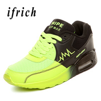 Athletic Running Shoes Couples Green Blue Jogging Sneakers Men Women Air Cushion Sports Trainers Breathable Outdoor Sports Shoes