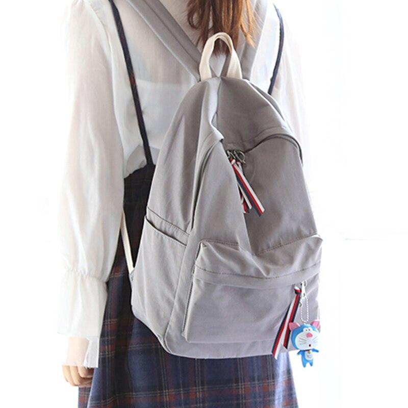 Simple frais conception pur couleur femmes sac à dos de mode filles loisirs sac école student book sac waterpoof