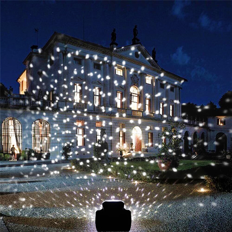 Snowfall Led Stage Lights Displays Projector Show Christmas Outdoor Indoor Rotating Snowflake Lamp Xmas Garden Landscape Decor (27)