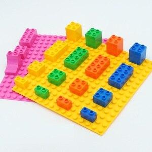 Image 2 - Blocchi di grandi Dimensioni Piastra di Base 16*16 Punti 25.5*25.5 centimetri di Mattoni Piastra Solida Giocattoli Giocattoli Per Bambini bambini FAI DA TE di Grandi Dimensioni