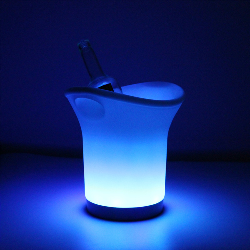 New Arrival 3W Battery Operated Colorful LED Light Color Changing Champagne Beer Bucket For Bar KTV