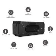 40 W Bluetooth רמקול IP7X עמיד למים נייד טור Speakr סופר בס סאב Soundbar תמיכת FM רדיו סוג C USB מחשב