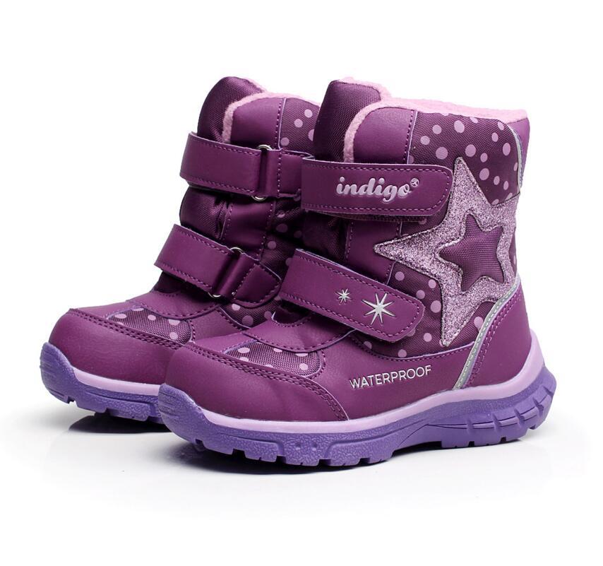 -25 Degress Baby Mädchen Schneeschuhe Mode Im Freien Wasserdichte Mit Wolle Kleinkind Winter Schuhe Mode Prinzessin Stiefel Größe 24-29
