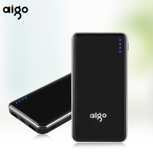 Aigo Powercore 10000mAh Type-C&micro USB Dual Inport Ultra thin Dual USB 2.1A Portable External Battery Fast Charging Power Bank(China)
