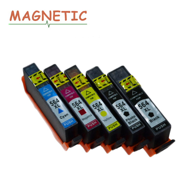 Magnetic compatible ink cartridges For HP564 for HP <font><b>564</b></font> <font><b>XL</b></font> 3522 5510 5511 5512 5514 5520 5525 6510 6512 6515 6520 7515 printers image