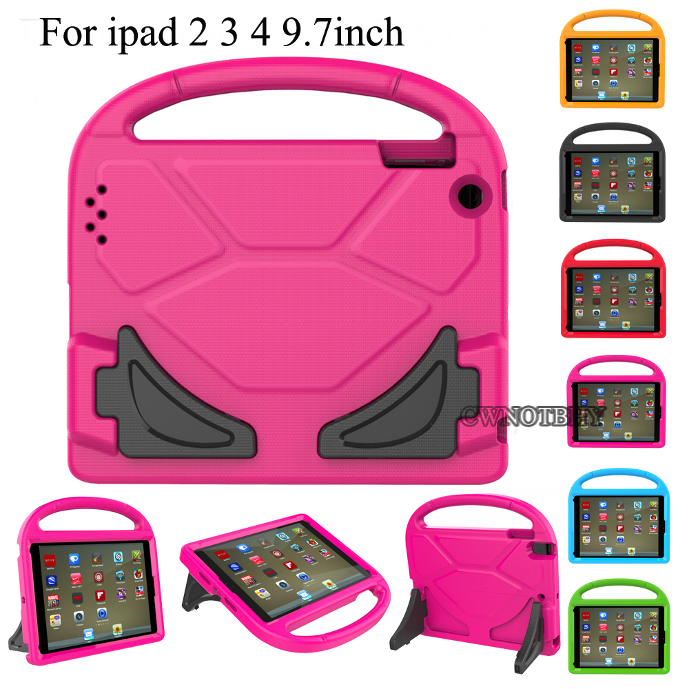 Kids Shockproof Case for iPad 2 3 4 Safe EVA Foam Cover Handle Stand Drop resistance Tablet Cases For Apple iPad 2/3/4+ Pen for fundas ipad mini 4 cases cover kids shock proof steering wheel case with handle for apple ipad mini 1 2 3 4 7 9inch tablet