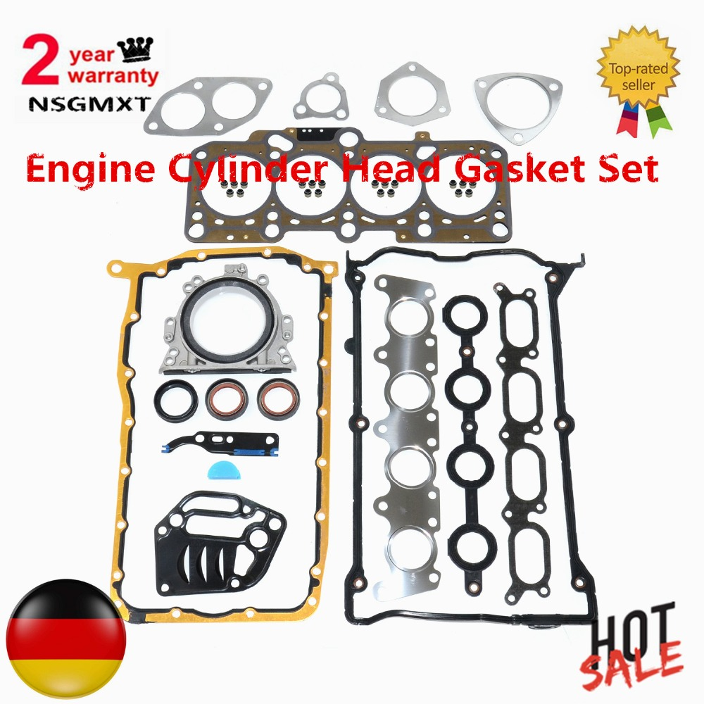 Ap01 conjunto de junta da cabeça do cilindro do motor para audi 1.8 t 20 v tt a3 alhambra leon golf octavia bora besouro passat sharan jett