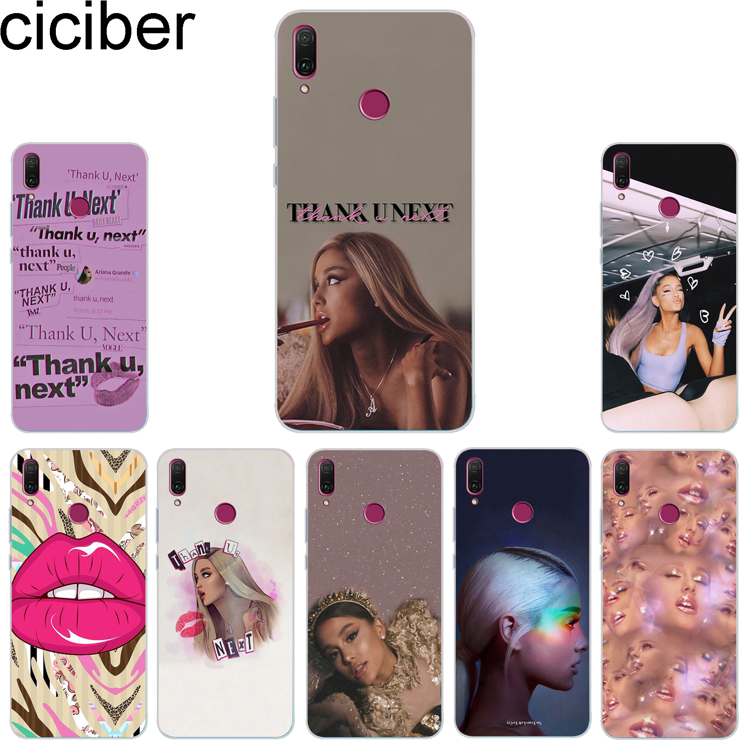 Buy ciciber Phone Case for Huawei Honor 10 9 8 lite 7A 8C 8X Note V10 Play Y9 Y7 Y6 Y5 Y3 Pro Prime 2017 2018 2019 Ariana Grande for only 1.2 USD