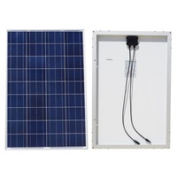 100w 18v A Grade Poly Solar Panel For 12v Battery RV Boat Car Home System