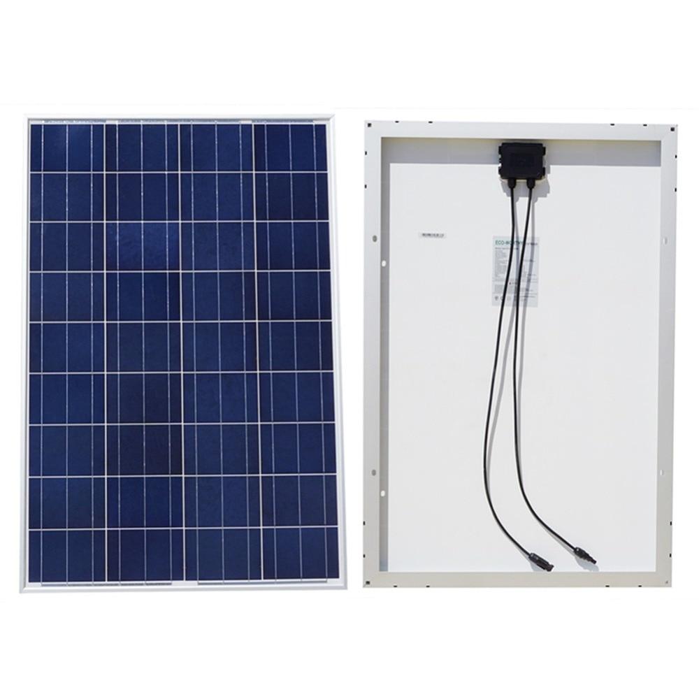 цена на EU AU USA Stock100w 18v A Grade Poly Solar Panel for 12v Battery RV Boat Car Home System No Tax Free Shiping