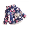 Girls Coat  Winter 2017 Baby Girl Long Sleeve Flower Jacket Children Thick Warm Kids Christmas Jackets For Girls
