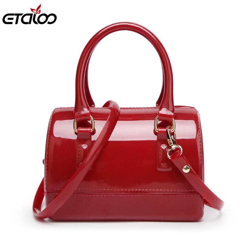 Handbags 2017 spring and summer candy color jelly bag transparent bag pillow bag handbag shoulder bag diagonal mini