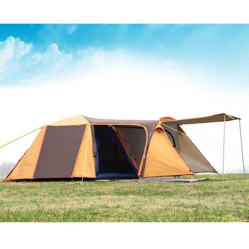 Haute qualité double couche 3-4person d'une salle une chambre étanche coupe-vent camping tente