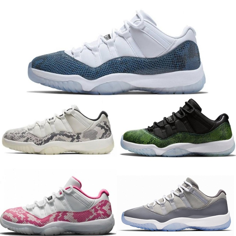 2019 new 11 navy blue pink snakeskin basketball shoes Bred Concord Georgetown space jam GG 11s Chaussures de basket